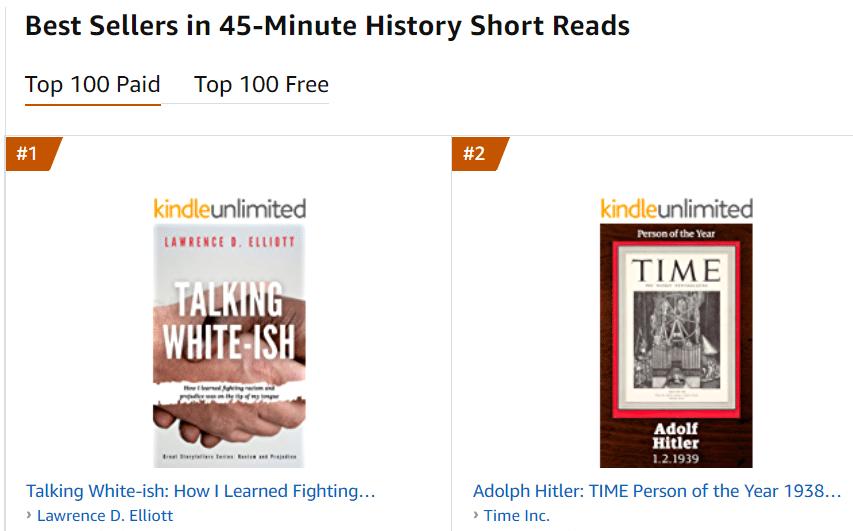 #1 Amazon Best Seller Author Lawrence D. Elliott